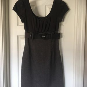 Brown Belted BCX Dress